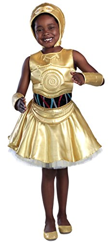 Ewok Wicket Costume (Princess Paradise Classic Star Wars Premium C-3Po Costume, Large, Gold)