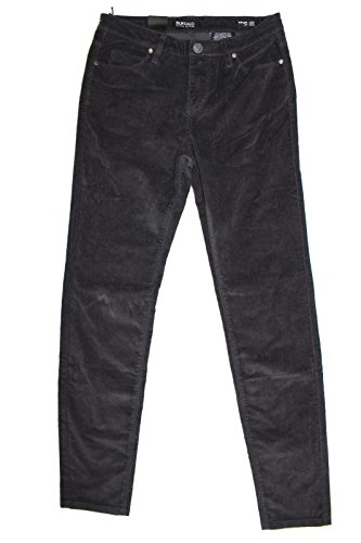 Buffalo David Bitton Womens Mid Rise Skinny Stretch Supreme Corduroy Pants (10/30, Gray)