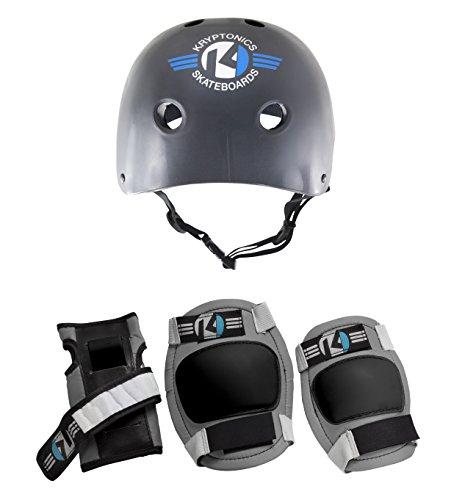 Kryptonics Para iniciar 4 en 1juego de almohadillas con casco–Pequeño/Mediano