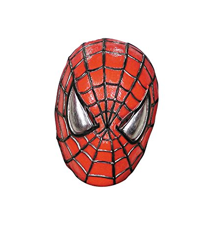 UHC Men's Marvel Superhero Deluxe Spiderman Vinyl Mask Halloween (Latex Spiderman Mask)