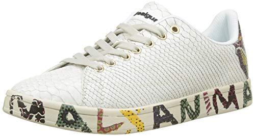 Ginnastica Donna Desigual Basse Da 1000 Scarpe Bianco cosmic blanco Shoes Animal w07Yq0Xr