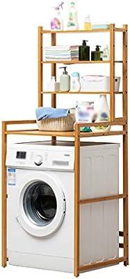 Estante de la lavadora Sólido bastidor de madera de bambú lavadora ...