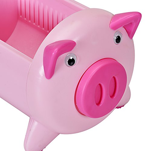 T O K G O - Creative Pigs Plastic Office Desktop Stationery Pencil Holder Makeup Pen holder Cell Phone Remote Control Storage Box Organizer with 4 Adjustable Spaces Photo #3