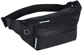 RLYKAL ウエストポーチ ウエストバッグ 人気 ウェストバッグ メンズ 軽量 スマホ 腰ポーチ 多機能 ランニングポーチ レディース 撥水 (ウエストバッグ, ブラック)