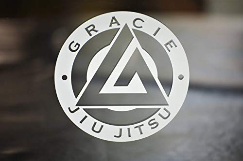 Gracie Jiu-Jitsu Die-Cut vinyl Decal for Car Window, Gear, Laptop or Wherever. Comes in different sizes and colors. Select from the option menu.