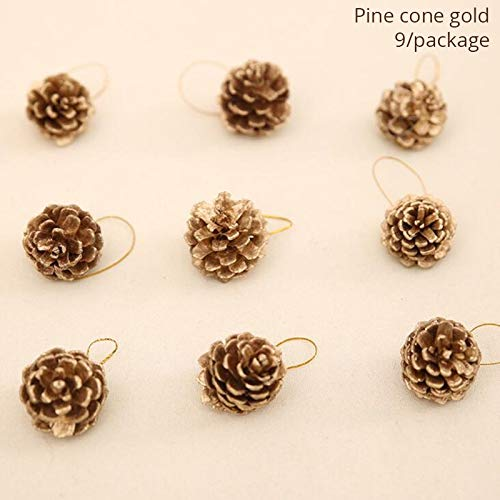 (VietNewYear Pendant & Drop Ornaments - Christmas Decoration for Home Natural Rattan Wreaths and Mini Artificial Christmas Tree Wooden Tree Pendants Supplies 1)