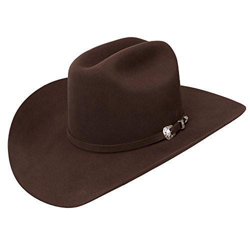 Wrangler 10x Chocolate Felt Western Cowboy Hat (6 3/4)
