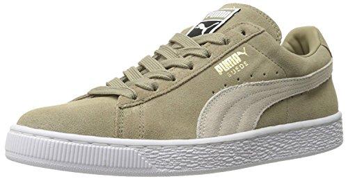 Puma Adult Suede Classic Shoe, Chinchilla White, 42.5 D(M) EU/8.5 D(M) UK
