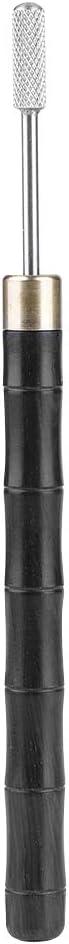 Atyhao Penna per tintura per Bordi in Pelle Argento applicatore per Penna a Olio con Bordo in Ottone a Doppia Testa per Artigianato in Pelle Fai-da-Te