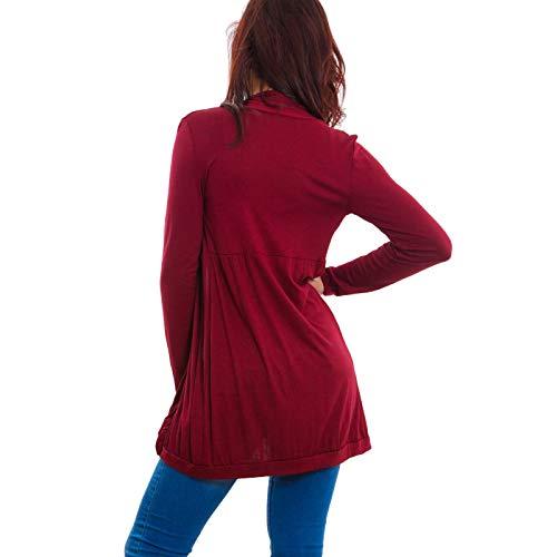 Spolverino Bordeaux giacca Toocool VB leggero coprispalle donna 2160 PgHw6qv