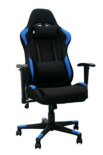 La Silla Espanola Silla gaming, racing para gamers, silla de Oficina Reclinable, Poliester, Azul, 53x52x134 cm