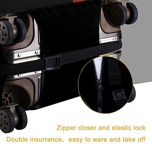 スーツケースカバー キャリーカバー インターポール ラゲッジカバー トランクカバー 伸縮素材 かわいい 洗える トラベルダストカバー 荷物カバー 保護カバー 旅行 おしゃれ S M L XL 傷防止 防塵カバー 1枚