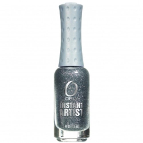 Orly Instant Artist Nail Lacquer, Platinum Glitter Silver, 0.3 Fluid Ounce (Platinum Silver Nail Polish compare prices)
