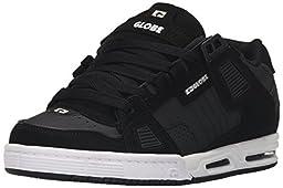 Globe Men\'s Sabre Walking Shoe, Black/Carbon/White, 9 M US