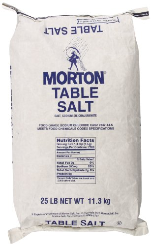 Morton Table Salt 25 Pound product image