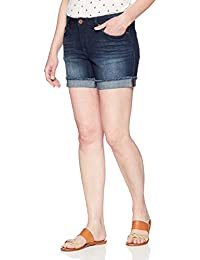 "Women's Modern Collection Denim Ex-Boyfriend 5"" Rolled Cuff Short"
