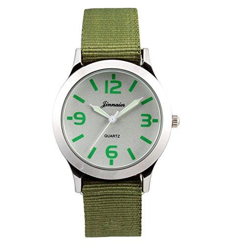WOMEN DRESS PARTY Men Sports FASHION QUARTZ WATCH Boy Gift Men Sports Watches unisex Luxury watches (Green)