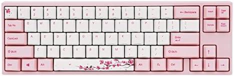 Ducky x Varmilo MIYA Pro Sakura Edition - Teclado mecánico con interruptores Cherry MX rojos