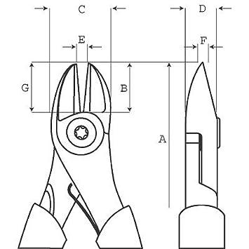 180 mm Bahco 2101GC-180IP ALICATE DE Corte Lateral 180IP