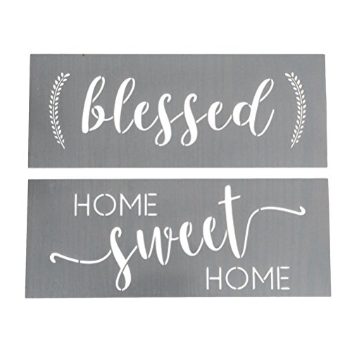 Home Sweet Home, Blessed Calligraphy Stencilling Set -