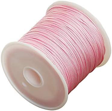 Oyfel Rouleaux Cordes Fils /à Perler Cordons Cir/és pour Bracelet Bijoux Bricolage Artisanat Faire Tress/é DIY Fabrication 0.8mm*50M Blanc