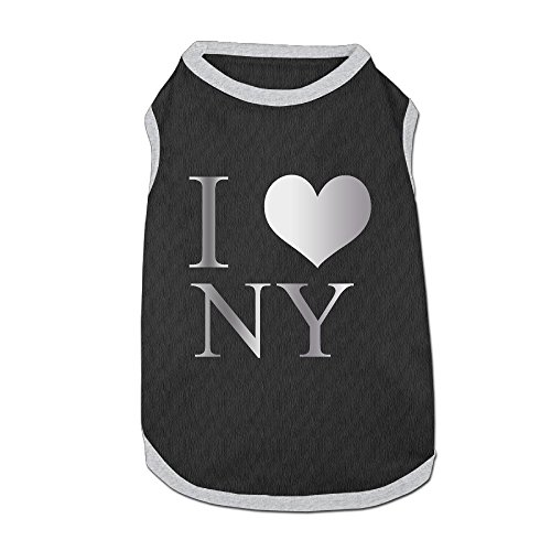 (Dog T-Shirt Clothes I Love NY New York Doggy Puppy Tank Top Pet Cat Coats Outfit Jumpsuit)