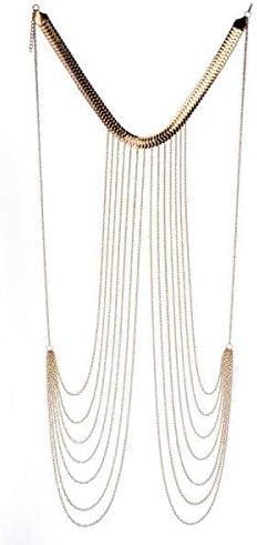 Hellery Modieuze lichaamsketting sieraden bikini taille goud sexy strand riem ketting