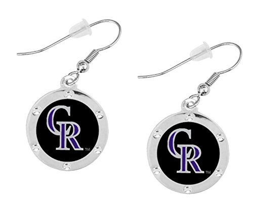 Final Touch Gifts Colorado Rockies Crystal Earrings Pierced (Colorado Charm Rockies)