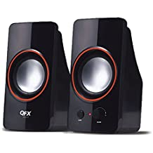 QFX CS-61 2.0-Channel USB Powered Speaker System 3.5mm Black
