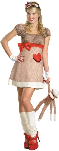 Ms. Sock Monkey Deluxe Costume - Medium - Dress Size -