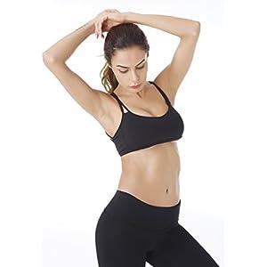 Queenie Ke Women's Light Air Back Support Yoga Energy Sports Bra Size L Color Midnight Black