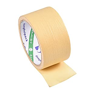 50mm x 15m High Temperature Resistant Adhesive Sticker Tape Heat Crepe Paper for 3D Printer from Yosoo-