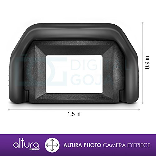 Altura Photo Eyepiece / Eyecup (Canon EF Replacement) for CANON Rebel (T5i T4i T3i T3 T2i T1i XTi XSi XS), CANON EOS (1100D 600D 550D 500D 450D 400D 350D 300D) DSLR Cameras + Premium MagicFiber Microfiber Lens Cleaning Cloth