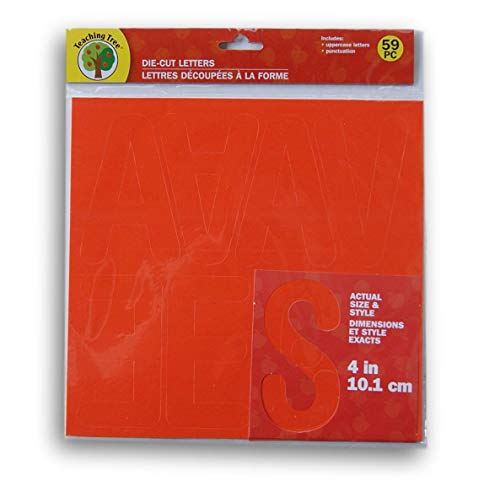 Teaching Tree Die Cut Letters and Punctuation - Orange - 59 Piece