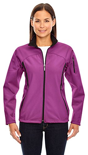 Ash City - North End North End Ladies 3-Layer Fleece Bonded Soft Shell Jacket, Medium, Plum Rose 889