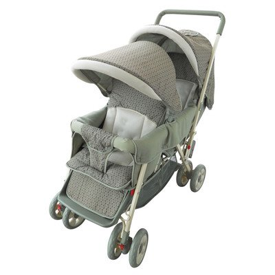 - Amoroso Deluxe Double Baby Stroller, Green