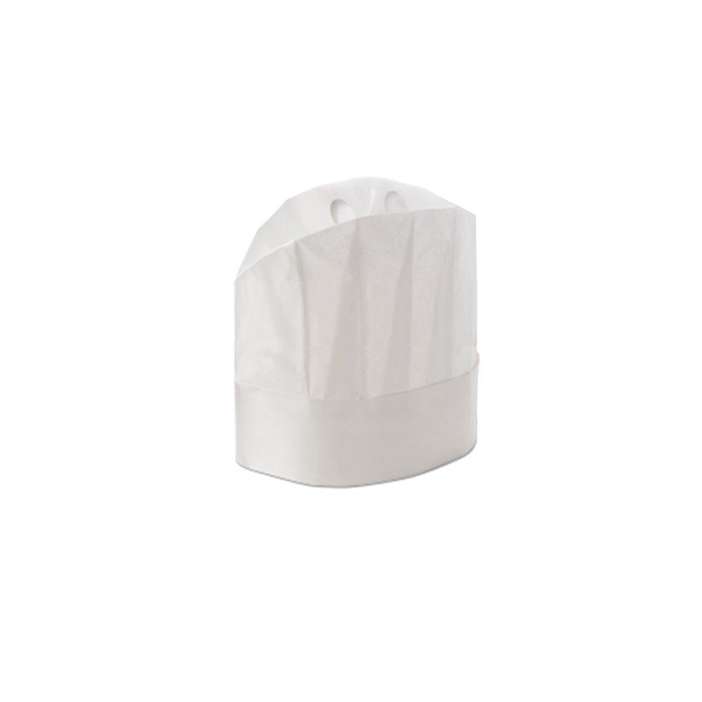 Cappello Grand Chef Chiuso Carta Regolabile 20 Pezzi - Disponibili Diverse Misure - Usa e Getta Con Fascia Assorbisudore - Con Adesivo per Regolare la Taglia - Massima Traspirazione e Comodità
