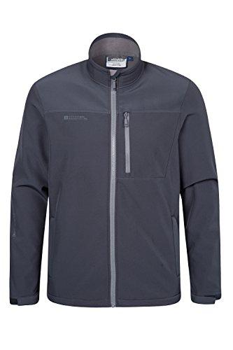 Mountain Warehouse Caledonia Mens Softshell Jacket Dark Grey - Dark Warehouse