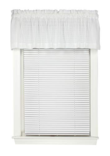 Breeze Window Valance - Bay Breeze Semi Sheer Stripe Straight Valance Curtain 72