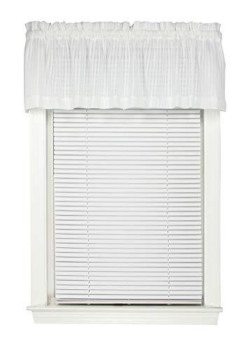 """Bay Breeze Semi Sheer Stripe Straight Valance Curtain 72""""W x 14""""L"""