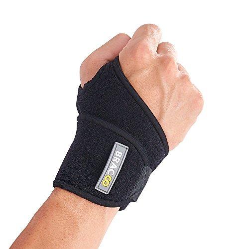 Bracoo Breathable Neoprene Wrist Wrap, One Size, Black