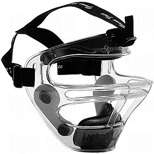 Game Face Large Clear Sports Safety Mask with Black T-Harness by Game Face