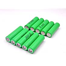 10 Samsung INR18650-25R 18650 2500mAh 3.7v Rechargeable Flat Top Batteries, Model: , Electronics & Accessories Store
