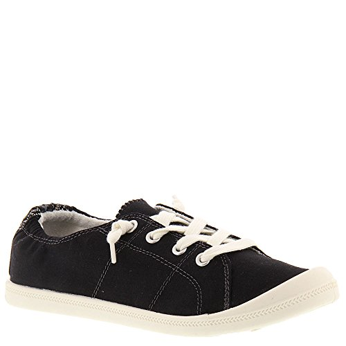 Madden Girl Women's Baailey Fashion Sneaker, Black Fabric, 7.5 M US