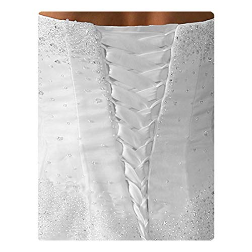 Wedding Dress Zipper Replacement Adjustable Fit Corset Back Kit Lace-Up White 12