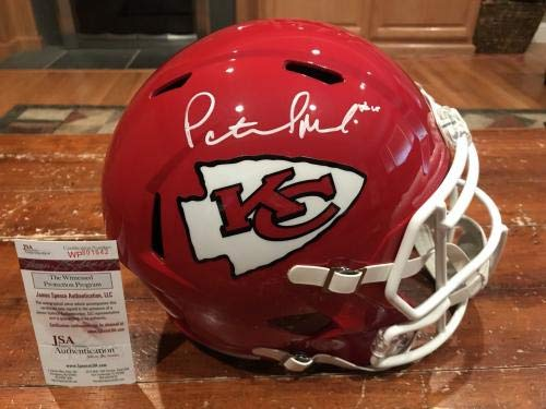 "Patrick""Pat"" Mahomes Autographed Kansas City Chiefs Full Size Speed Helmet JSA Certified Autographed NFL Helmets"