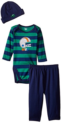 - Gerber Baby-Boys Newborn 3 Piece Bodysuit Cap and Pant Set, Football, 24 Months