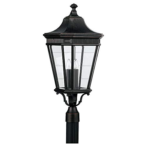Feiss OL5408 Traditional 3 Light Post Lantern from the Cotswold Lane Collection, Grecian -
