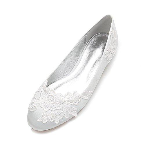 Zapatos Las Elegant Boda Mujeres Zapatos La De 16 Flores De Cerrado F5049 del Corte Clásico Silver Punta high De Pie Vestido Dedo shoes Redonda 0rwEqWxYIE