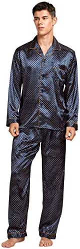 Tony & Candice Men's Classic Satin Pajama Set S
